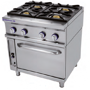 Cocina Industrial a Gas Repagas Series 750 Modelo CG-741 LC
